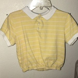 Yellow Cropped Polo